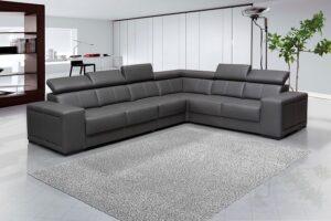 L alakú kanapé a nappaliban